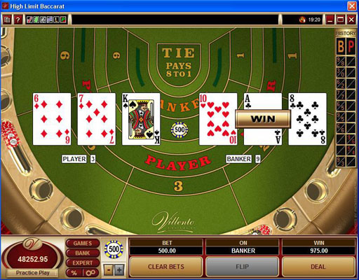Online casino website games