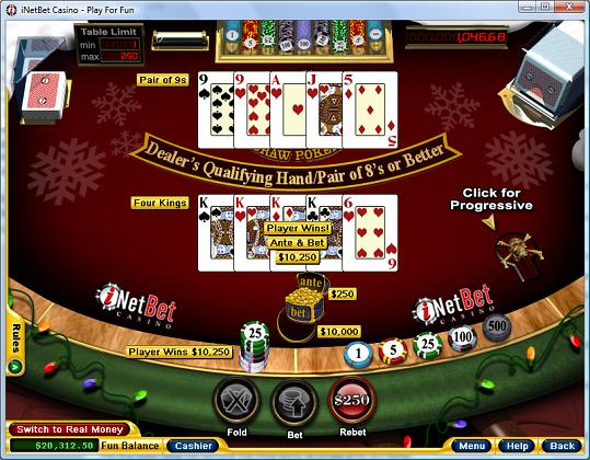 Caribbean Draw Poker Beating Bonuses